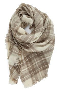 BP. Plaid Square Scarf available at #Nordstrom