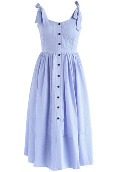Dashing Darling Cami Dress in Blue Gingham- New Arrivals - Retro, Indie and Unique Fashion