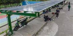 proteger del sol a las personas y  vehículos