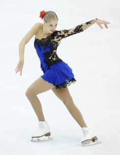 Carolina Kostner -Blue Figure Skating / Ice Skating dress inspiration for Sk8 Gr8 Designs.