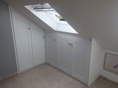 Bespoke and made to measure wardrobes for your loft room or eaves Attic Bedroom Storage, Bedroom Built In Wardrobe, Fitted Bedroom Furniture, Attic Wardrobe, Fitted Bedrooms, Master Bedroom Interior, Bedroom Loft, Room Decor Bedroom, Loft Conversion Storage Ideas