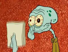 27 Squidward Faces Every College Student Will Recognize | When you hand in a paper the second it's due.