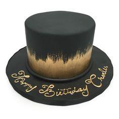 black and gold elegant birthday cake!
