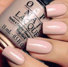 Ig @allnailseverything the prettiest shade of blush pink simple polish laquer from opi nails, nude nails, nail design. Simple nails