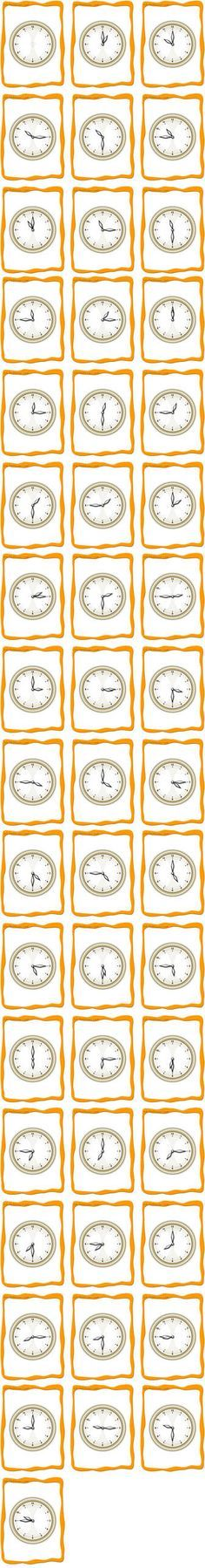 A printable set of time flashcards for teaching time. Pictures of an analog clock for every 15 minutes One empty clock included. Teaching Time, Teaching French, Teaching Spanish, Teaching Math, Teaching English, Teaching Resources, Spanish Teacher, Spanish Classroom, Math Classroom