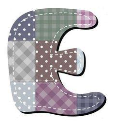 Buchstabe / Letter - E (Patchwork / Quilt)
