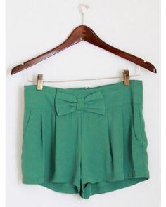 Green Bow Shorts