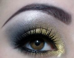Make-up: Gold and Silver eyeshadow