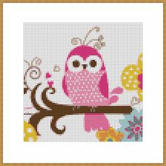 Observance Owl Cross Stitch Pattern por LindaPatterns en Etsy