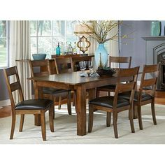 Have To It Steve Silver Mango 6 Piece Dining Table Set