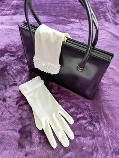 This item is unavailable Vintage Gloves, Wedding Gloves, White Gloves, Vintage Bridal, Vintage Dresses, Purses And Bags, Prom, Formal, Trending Outfits