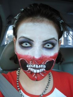 wolfe brothers makeup by ~halfdemonhottie on deviantART. Not exactly a skull face, but too cool not to post.