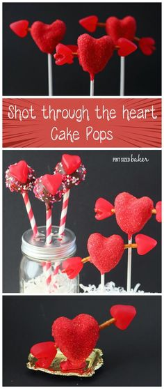 Learn how to make these Valentine's Heart Cake Pops complete with edible Arrows!