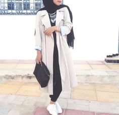 white creamy coat hijab outfit- Latest hijab trends http://www.justtrendygirls.com/latest-hijab-trends/