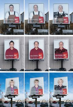 We share the best billboard designs to get your creative juices going. These billboards truly embrace creativity and outside the box thinking. Street Marketing, Internet Marketing Seo, Seo Marketing, Digital Marketing, Creative Advertising, Advertising Agency, Ads Creative, Advertising Design, Real Background