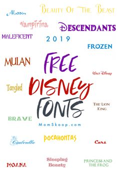 NEW UPDATE 39 Free Disney Fonts for your magical home projects and crafts - Moana, Big Hero, Avengers, and more.