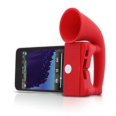 Portable Cute Amplifier Horn Stand Speaker for iPhone 5, iPhone 4S #iphone4s,