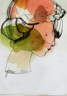 Beautiful watercolor illustration by Berlin-based graphic designer and illustrator Ekaterina Koroleva.Beautiful watercolor illustration by Berlin-based graphic designer and illustrator Ekaterina Koroleva. Art And Illustration, Watercolor Illustration, Watercolor Art, Watercolor Fashion, Watercolor Portraits, Art Illustrations, Draw Realistic, Ouvrages D'art, Fine Art