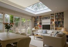 London extension by Vale Garden Houses with a concealed skylight blind installed by Grants Blinds.