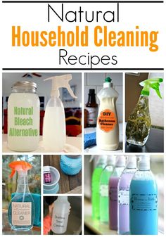 Natural Household Cleaning Recipes! Easy Cleaning Hacks and All Natural Recipes!