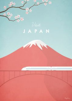 Vintage style travel poster of Japan. An original illustration for Travel Poster… Vintage style travel poster of Japan. An original illustration for Travel Poster Co. by Henry Rivers. Japan Illustration, Travel Illustration, Digital Illustration, Posters Decor, Design Posters, City Poster, Poster Poster, Poster Layout, Poster Wall