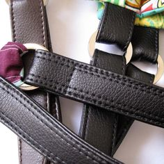 Make Your Own Vinyl/Leather Look Handbag Straps - A Tutorial - Emmaline Bags and Patterns