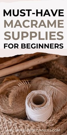 There isn't a better time to start with Macrame than in 2021! Take your pick from gorgeous cords, handy tools, the best teachers, and countless amazing free patterns. This easy beginner guide provides everything you need to get started with Macrame! #macrameforbeginners #macrameprojects #macramepatterns Macrame Supplies, Macrame Projects, Handy Tools, Cool Tools, Macrame Knots, Macrame Jewelry, Macrame Patterns, Make Time, Cords