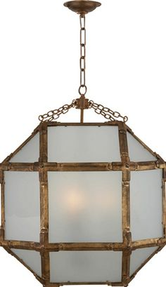 Visual Comfort Lantern, Contemporary Lantern, Medium Morris Lantern