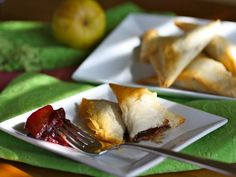 Gojee - Chocolate Samosas with Pear-Cherry Chutney by Grab a Plate xoxo..sweet with my coffees..yummy