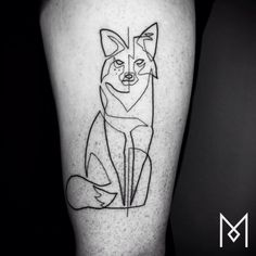 Mo Ganji - Artiste - Tatouage - Trait - Renard