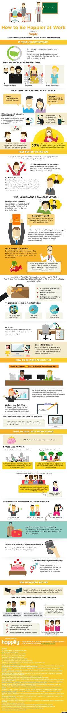 Tips & tricks for feeling happier at work