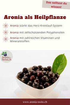 Hier erfährst du, welche Inhaltsstoffe die Aronia Beeren so wertvoll machen und in welcher Form du sie am besten für deine Gesundheit einsetzen kannst! Superfoods, Form, Cereal, Beans, Vegetables, Tricks, Breakfast, Vitamins And Minerals, Natural Foods