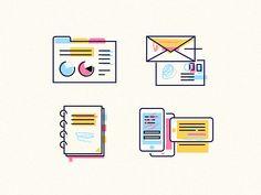 Paper work icon set vol.2 by Joanna Ławniczak #Design Popular #Dribbble #shots