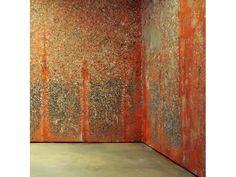 Michel Blazy, Mur de poils de carotte (2000)   les Abattoirs