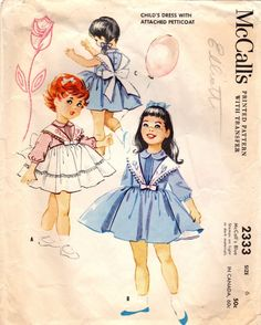 1950s McCall's 2333 Vintage Sewing Pattern by midvalecottage