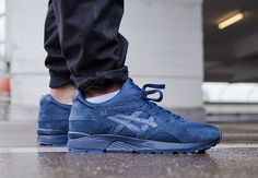 """Asics takes the Gel Lyte V to the darkest depths of the evening with this new look in """"Night Shade"""". The clean tonal dark blue look features a mesh, suede, and neoprene upper with a very low contrast shade … Continue reading →"""