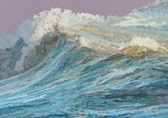 Matthew Cusick creates imposing collages that look alike digital paintings. This marine series of collages was made using cuttings of old maps, atlases, books and encyclopedias organized in such a way so that convey the image of dynamic and nearly alive waves.