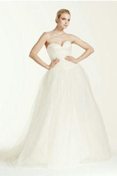 "Strapless Ball Gown With Sweetheart Neckline & ""Princess"" Tulle Skirt; Truly Zac Posen Collection For David's Bridal.........."