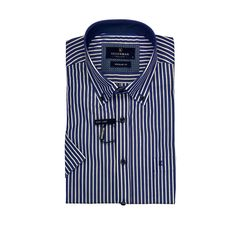 Striped casual shirt, button down, blue and white stripe Button Down Collar, Button Down Shirt, Striped Shorts, Skinny Fit, Casual Shirts, Long Sleeve Shirts, Blue And White, Shirt Dress, Sleeves