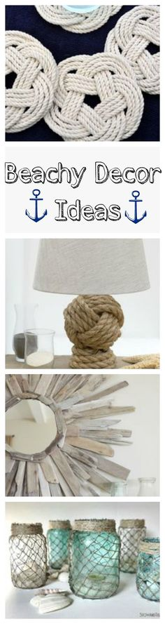 beachy home decor crafts.