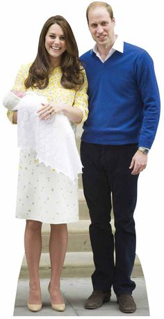 Princess Charlotte, Prince William and Kate The Duchess of Cambridge Lifesize Cardboard Cutout / Standup Royal Princess, Baby Princess, Princess Charlotte, Queen 90th Birthday, 90th Birthday Parties, Duke And Duchess, Duchess Of Cambridge, Prince William And Kate, Second Child
