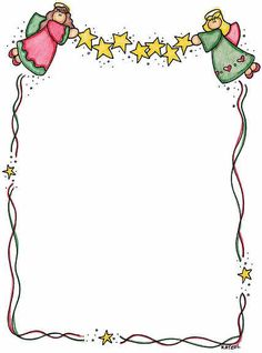 angels we have heard on high! Christmas Border, Christmas Frames, Christmas Wood, Christmas Colors, Christmas Cards, Borders For Paper, Borders And Frames, Christmas Clipart, Christmas Printables