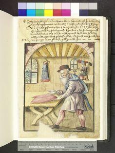 Amb. 317b.2° Folio 42 recto Mendel Hausbuch Nürnberg  Hans Koch - tailor died 1583