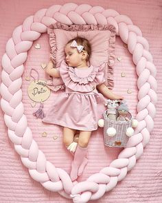The pink land is the kingdom of the smallest princesses. Every young lady dreams of a corner. Pink accessories available in our store 💗 Toy Basket, Pink Accessories, Wicker Furniture, Baskets On Wall, Pink Color, New Fashion, Baby Car Seats, Lady, Princesses
