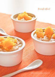 Un dolce insolito, a base di riso, arancia e cannella, da gustare caldissimo in queste fredde giornate d'inverno.