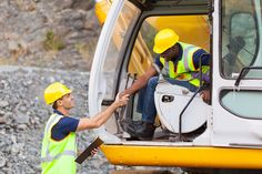 Photo about Cheerful construction foreman talking to excavator operator. Image of heavy, male, building - 31347463 Employer Branding, Job Search Tips, Career Inspiration, Heavy Equipment, Branding Design, Construction Manager, Wordpress Theme, Advice, Training