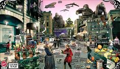 70 bands represented humorously in this image queen smashing pumpkins alice in chains Gorillaz led zeplin rolling stones guns and roses eagles styx cranberries help me. Hidden Pictures, Best Funny Pictures, Cool Pictures, Guns N Roses, Bts Communication, Puzzle Photo, Hidden Movie, Virgin Records, White Zombie