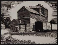 HERSCHEL C. LOGAN (1901-1987) PENCIL SIGNED BLOCK PRINT : Lot 29