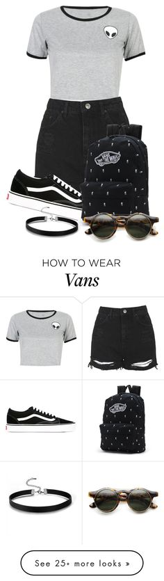 """Story"" by tigerlily789 on Polyvore featuring WithChic, Topshop and Vans"
