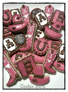 Cowgirl Birthday Mini Cookies